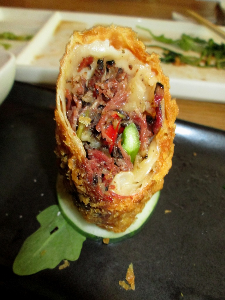 Katz's Pastrami Egg Roll (at Red Farm)