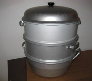 a Chinese steamer pot