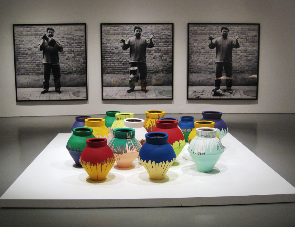 """Dropping a Han Dynasty Urn"" (1995 - 2009) and ""Colored Vases"" (2006)"