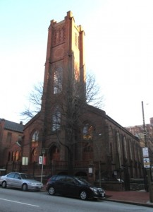 Westminster Hall (the Burying Ground is to the right and back)