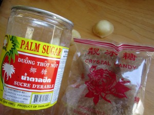 palm sugar & Chinese rock sugar