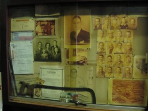 old faded photographs of, presumably, members of the Kreuz and/or Schmidt families