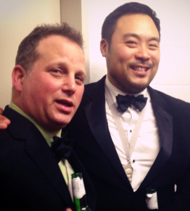 David Chang with fellow Outstanding Chef winner Paul Kahan
