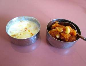 kheer and gajar halwa