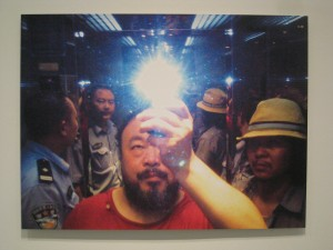 """selfie"" taken by Ai Weiwei upon being arrested (2009)"
