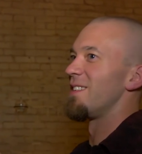 Kyle Bailey smiling (screen shot from Munchies TV)