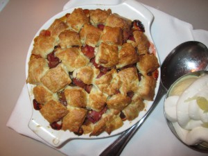 the Rhubarb Cobbler from The Evening Star