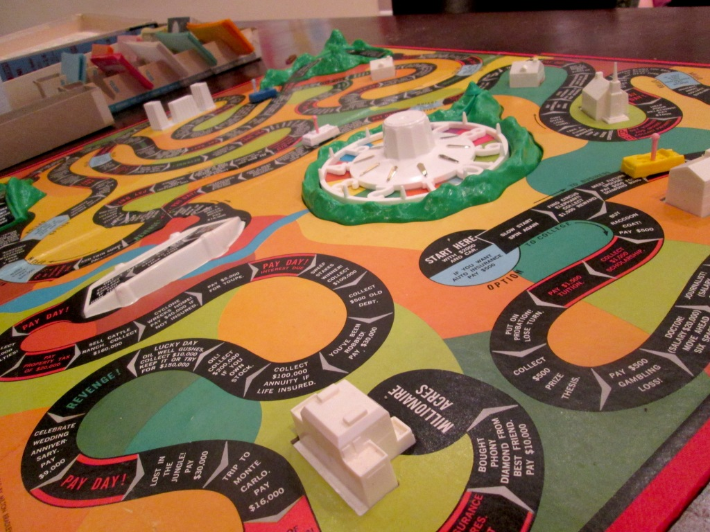 The Game of Life game board at Buzz Bakery - Alexandria