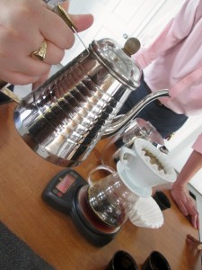 the Kalita equipment used for our pour-over trials